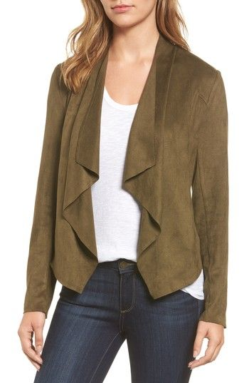 4acf83fbe64957 Free shipping and returns on KUT from the Kloth Tayanita Faux Suede Jacket  at Nordstrom.com. Supple faux suede lends luxe texture and soft drape to an  ...