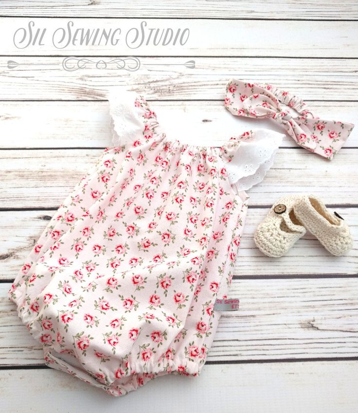 65a88abaeee Valentine baby romper flutter sleeves roses
