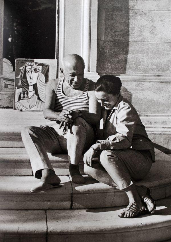 Jacqueline & Pablo Picasso by David Douglas Duncan