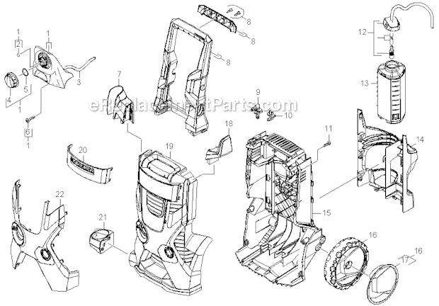 Karcher K5.740 Pressure Washer schematics Housing (With
