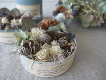 紫陽花リースと実の詰め合わせのワークショップ ドライフラワー dryflower FLEURI blog