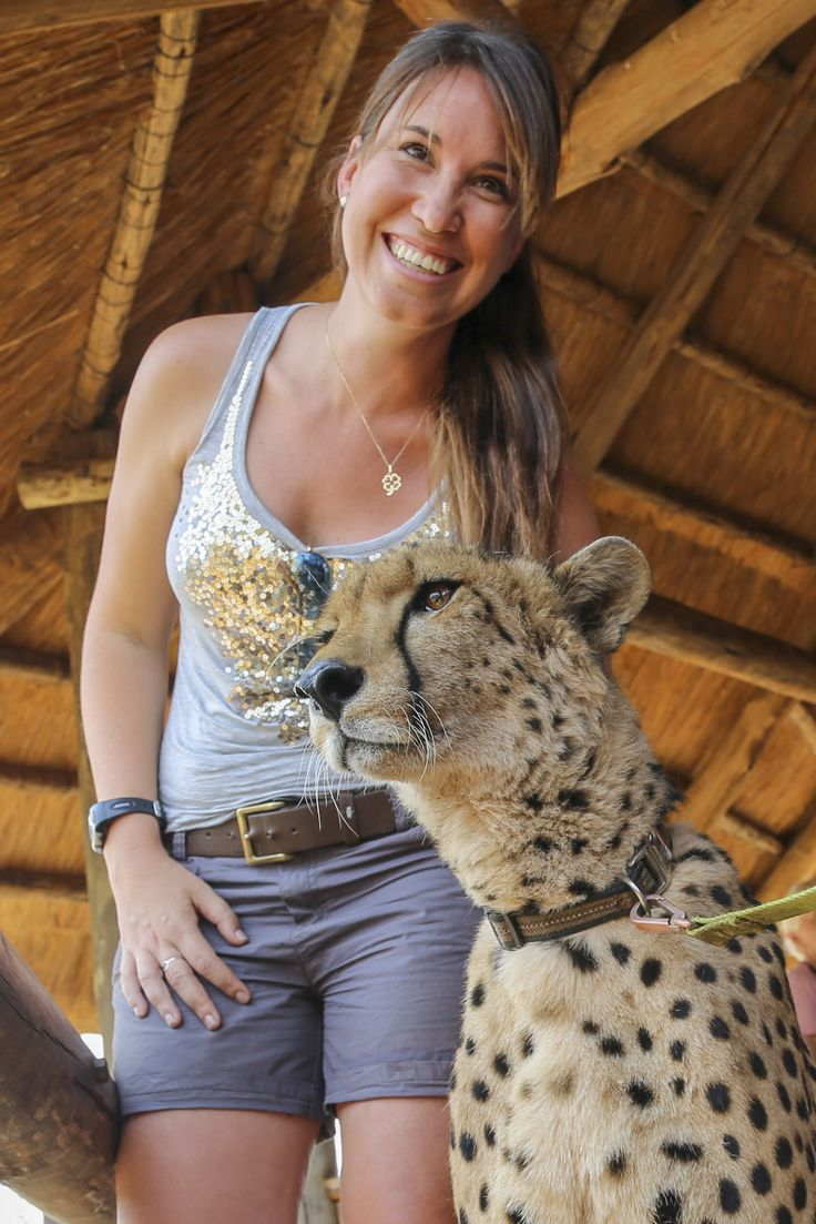 A humbling experience at Elephant Camp in Zimbabwe where Laura gets to interact with orphaned & rescued cheetah Sylvester. #Africa #travel #animals #wildlife