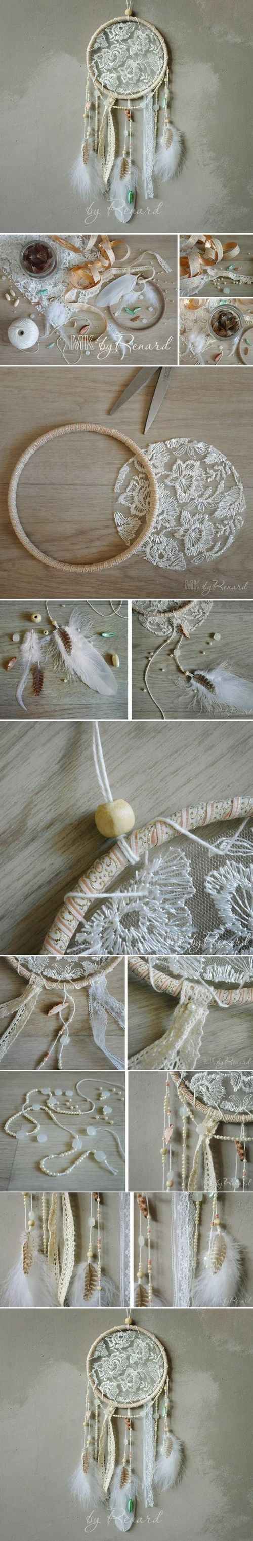 romantic boho dream catcher