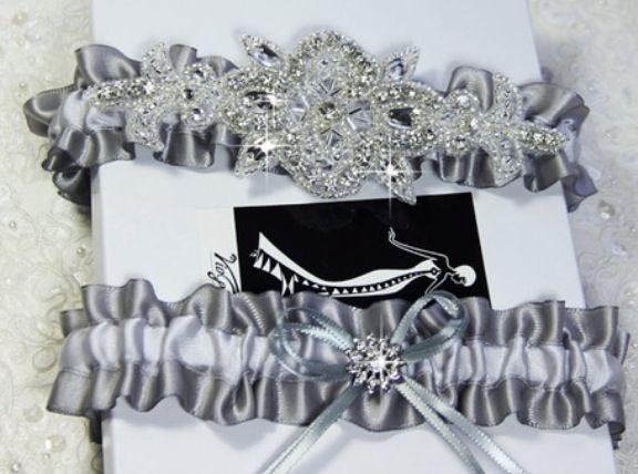 Luxury Wedding Garter Set Keepsake Tossing By VioGemini
