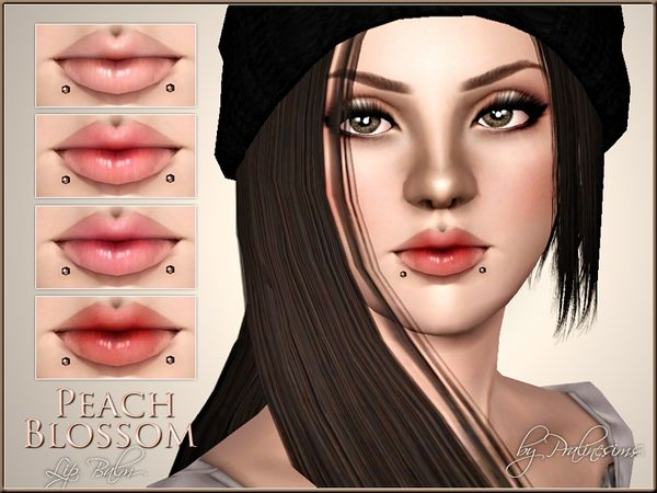 Peach Blossom Lip Balm by Pralinesims - Sims 3 Downloads CC Caboodle