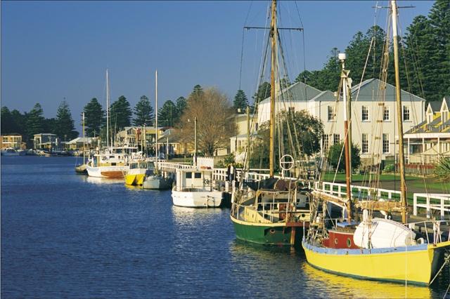 Boats at Port Fairy.