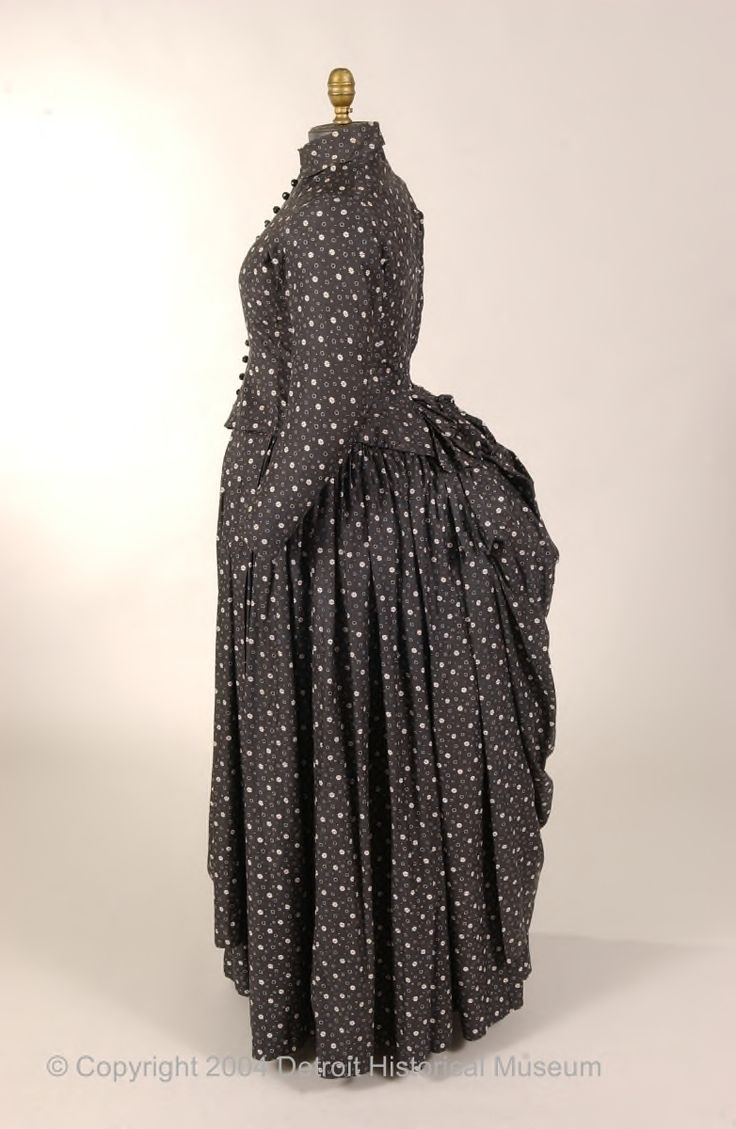 Maternity dress, 1880-85, Detroit Historical Museums Costume Collection