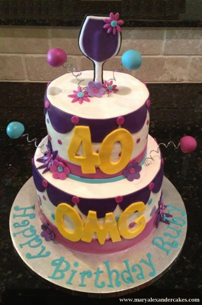 1000+ ideas about 40th Birthday Cakes on Pinterest 40 ...