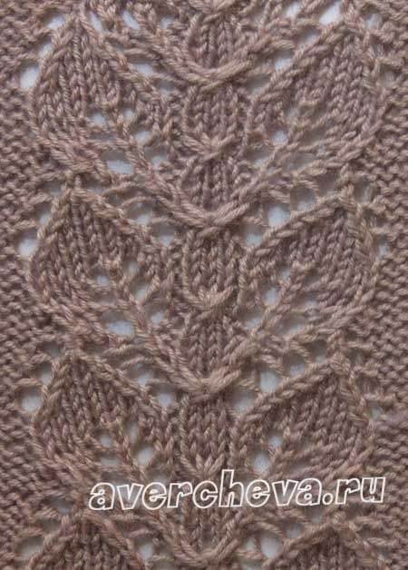 Knitting Pattern Leaf Lace : 214 best images about Knit - Stitches Leaves on Pinterest Knit patterns, La...