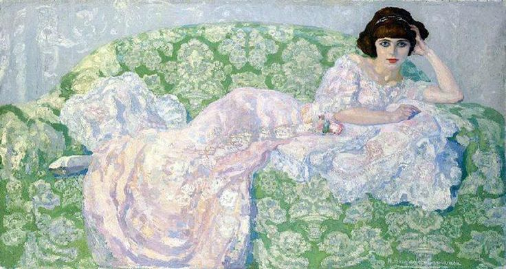 Hermenegildo Anglada Camarasa (HERMEN) (1871-1959), La gata rosa,  1908