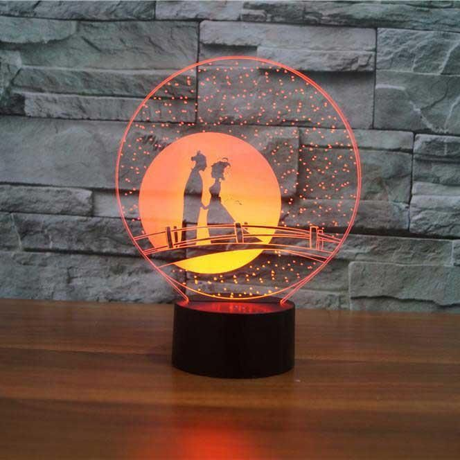 Couple Romance 3d Illusion Lamp 3d Illusion Lamp Lamp 3d Led Lamp