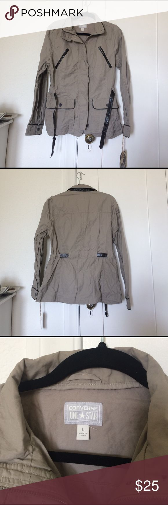 Converse Safari Chic Jacket w/ Faux Leather Trim New with tags, never worn Converse Jackets & Coats Utility Jackets