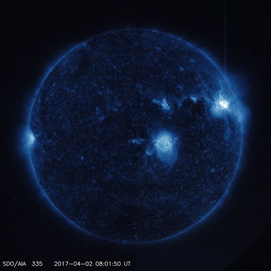 Our Solar Dynamics Observatory, which watches the sun constantly, captured im...