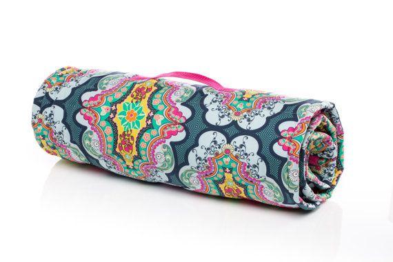 Brit Boutique Royal Boho Girl Nap Mat / Sleeping Mat. Preschool mat, kindergarten mat, day care mat, sleeping bag. With full size minky blanket and built in pillow. Machine Washable. USA Made by Elonka Nichole