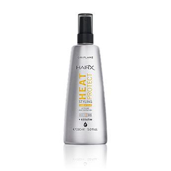 HairX Heat Protect Styling Leave in Spray (0 Rating)  Membantu melindungi dari kerusakan akibat panas hingga 230°C dengan spray perlindungan antistatik dengan Keratin. Hold 2. 150 ml. Kode:30552  Rp.75.000