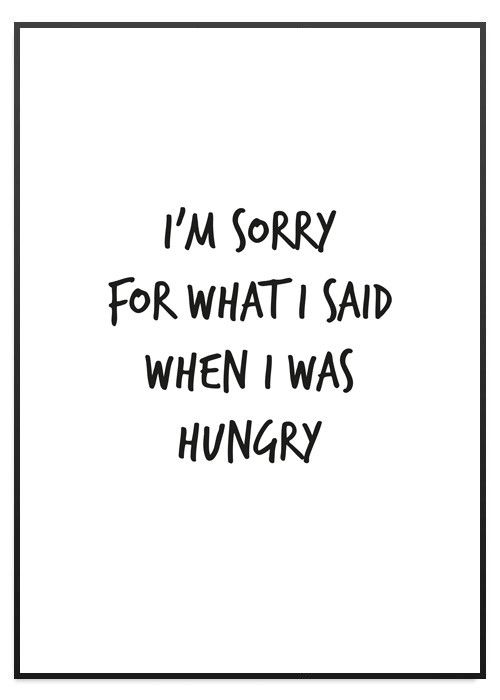 I'm sorry for what i said when i was hungry Poster