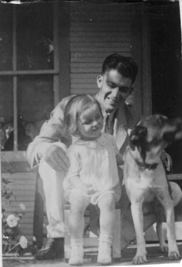 """""""My daddy and my sister and of course a precious animal! What wonderful parenting we enjoyed. Love you, Daddy and Shirley...and your canine friend! Thanks for teaching us to appreciate what is beautiful and essential in life..."""" Read the rest and view additional images at this link …  https://www.goodreads.com/author_blog_posts/8178428-what-is-beautiful-and-essential-in-life-a-good-bye-to-my-sister-shir"""