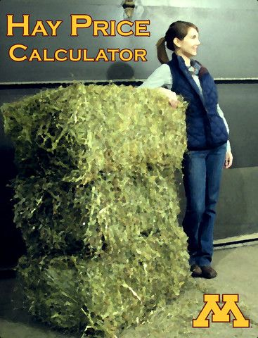 Hay Price Calculator for iPhone and iPad.  This app calculates hay price per ton based on price per bale to aid in price comparisons of different sized bales.