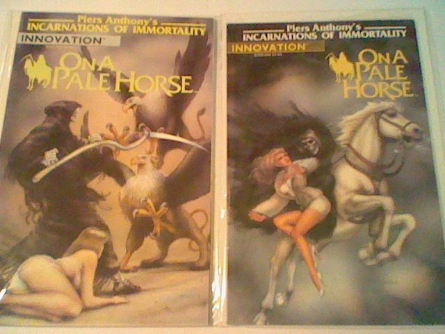 PIERS ANTHONY'S INCARNATIONS OF IMMORTALITY ON A PALE HORSE #1,#2, Innovation