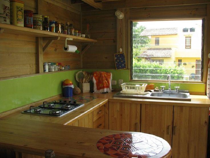 Cocina casa TDE #woodarchitecture #wood #madera #casasenmadera #arquitecturaenmadera http://www.tallerdensamble.com