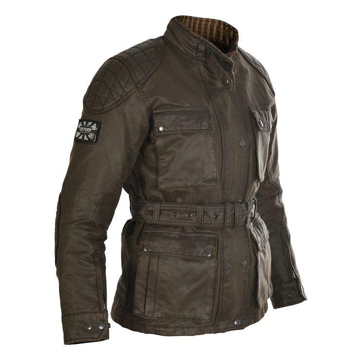 Oxford Heritage Waxed Cotton Ladies Motorcycle Jacket - LadyBiker.co.uk