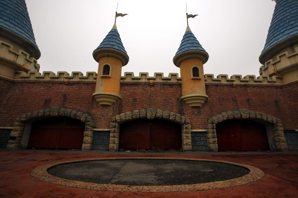 China's 'Wonderland,' an abandoned -Disneylandesque amusement park.  Great pics and story on it in National Geographic.