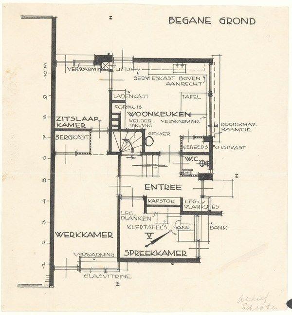 Rietveld S Schroderhuis In Utrecht 1924 The Charnel House Schroder House Utrecht Floor Plans