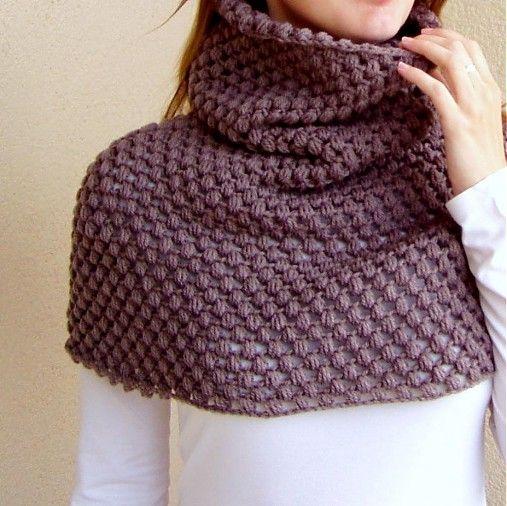 crochet snood shawl