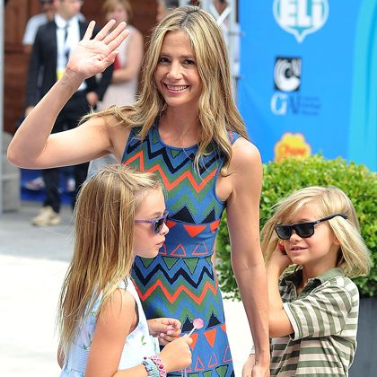 MIRA SORVINO Children: Holden (at age 42) and Lucia (at age 44)