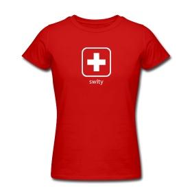 Schweizerkreuz Icon - Frauen-T-ShirtAmerican by swity