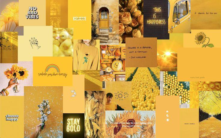 Yellow Aesthetic Laptop Wallpaper   Cute desktop wallpaper ...