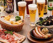 各国の文化や料理も満喫していただけるよう、世界のビールに合わせて様々な料理をご用意しております