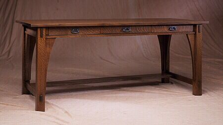 "Limbert Library Table 72""w x 30""d x 30""t. Shown in Quarter Sawn Oak"