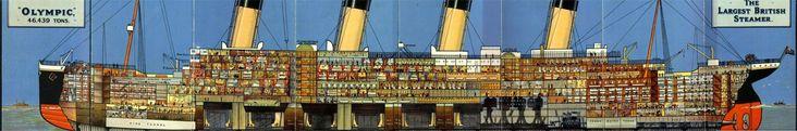 Titanic's Sister-ship Cutaway [4233x700]