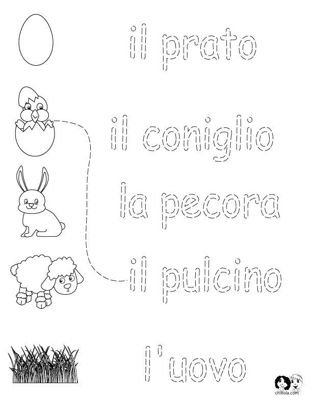 Italian Worksheets for Kids ~ Spring Printout Italian ~ Italian Activities for Children