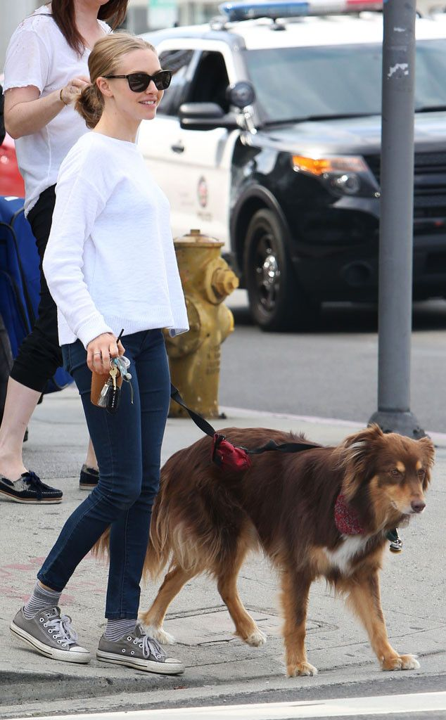 Amanda Seyfried from The Big Picture: Today's Hot Pics  The actress heads out with her furry friend, Finn, in Los Angeles.