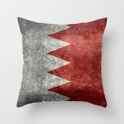 The flag of the Kingdom of Bahrain - Authentic version Throw Pillow