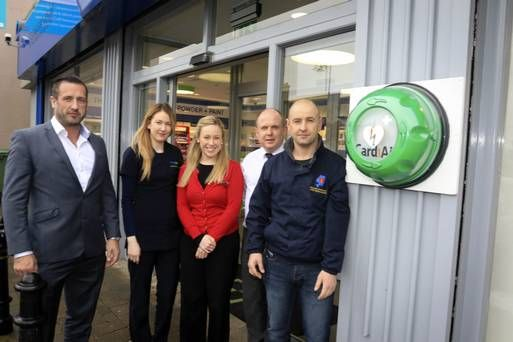 Arklow Community first responders launch the new defibrillator at Care Plus, Ferrybank, Arklow The good work of the Arklow Community First Responders continued this week as Arklow's newest public access defibrillator was unveiled.