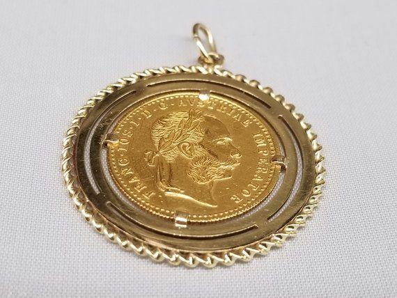 Genuine 14k Yellow Gold D//C Prong 1//2 oz Panda Coin Bezel
