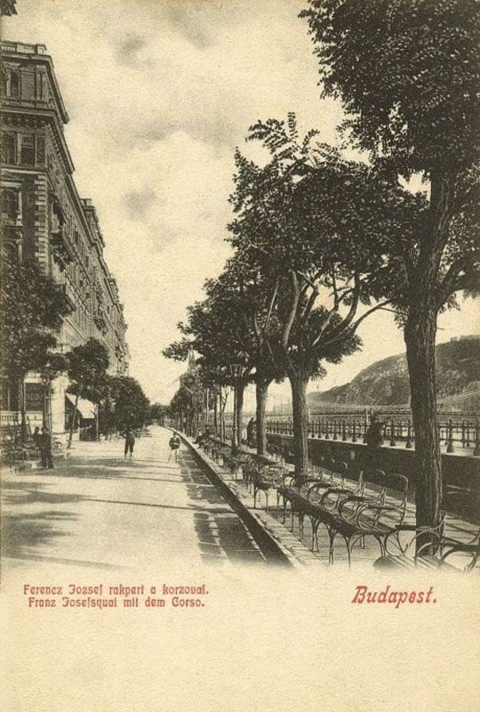 Budapest, Hungary On The Dunabe Side 1910