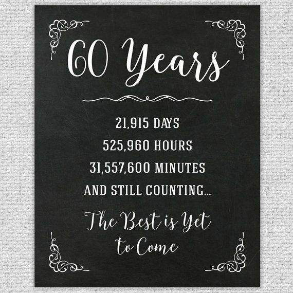~Id Rather Doodle~  60TH ANNIVERSARY CHALKBOARD SIGN - ANNIVERSARY NUMBERS STATS…