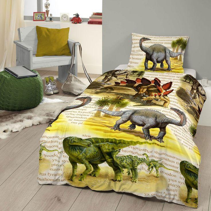 Good Morning Flanell Bettwäsche Dinos in flauschiger Qualität. Die verschiedenen Dinosaurier, auf der warmen Garnitur, lassen Kinderherzen höher schlagen. Die flauschige Winterbettwäsche darf in der kalten Jahreszeit in keinem Kinderzimmer fehlen. www.bettwaren-shop.de