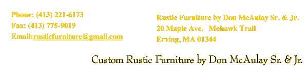 Custom Rustic Furniture by Don McAulay Rustic Clocks For Sale: Rustic Table Clock: