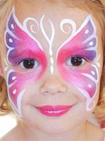 Butterfly face paint                                                                                                                                                      More