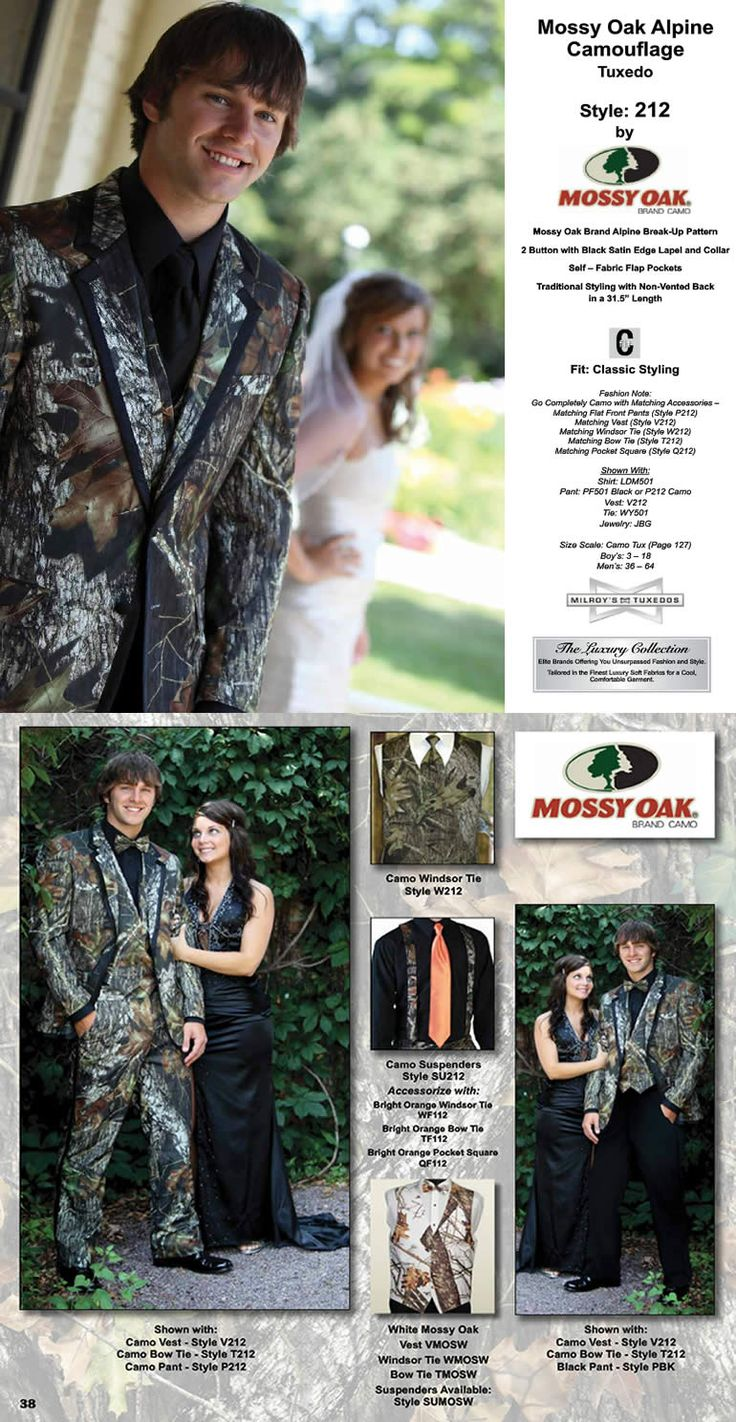 Mossy Oak Camo Tuxedo, from the Luxury Collection.