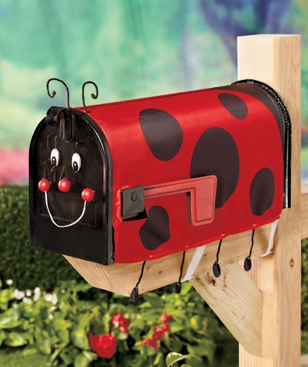 Decorative Mailbox Covers .so cute and only $4.75.comes in a bumble bee too =)