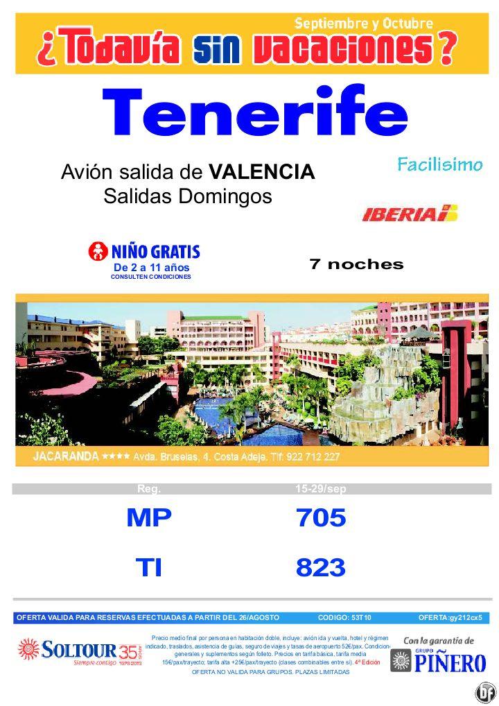 TENERIFE, ¿Tódavía sin vacaciones? Hotel Jacaranda, salidas del 15 al 29 Septiembre desde Valencia - http://zocotours.com/tenerife-todavia-sin-vacaciones-hotel-jacaranda-salidas-del-15-al-29-septiembre-desde-valencia/
