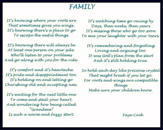 poems about family Sad