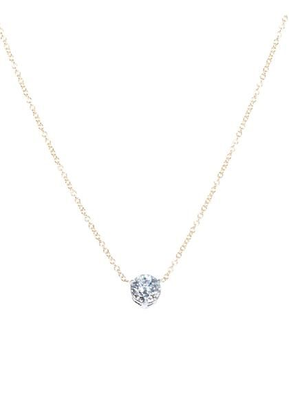Oster Collection - Diamond Pendant With Yellow Gold Chain from Osterjewelers.com