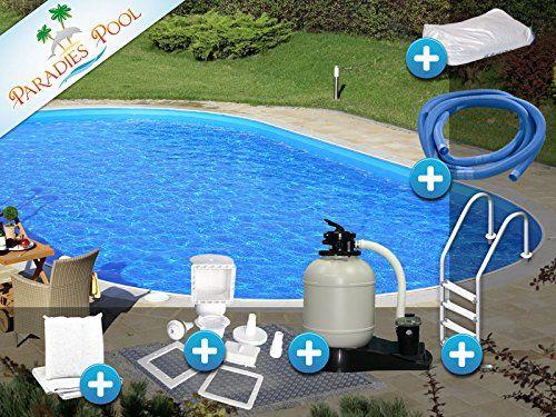 Pool Set Easy 3,00x7,00x1,20m oval Stahlwandbecken Komplettset Tiefbecken